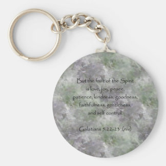Galatians 5:22-23 ~ Fruit of the Spirit Basic Round Button Keychain