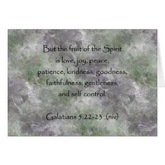 Galatians 5:22-23 ~ Fruit of the Spirit Card