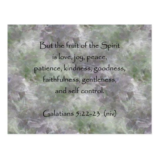 Galatians 5:22-23 ~ Fruit of the Spirit Postcard