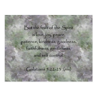 Galatians 5:22-23 ~ Fruit of the Spirit Postcard