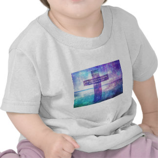 Galatians 5:22 Bible Quote words with Cross Shirts