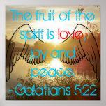 Galatians 5:22 Poster