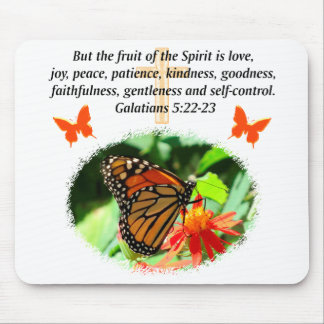 GALATIANS 5 BUTTERFLY PHOTO DESIGN MOUSE PAD