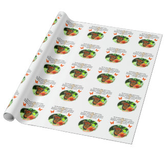 GALATIANS 5 BUTTERFLY PHOTO DESIGN WRAPPING PAPER