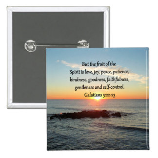 GALATIANS 5 FRUITS OF THE SPIRIT 2 INCH SQUARE BUTTON