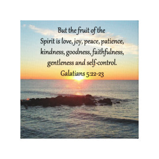 GALATIANS 5 FRUITS OF THE SPIRIT CANVAS PRINT