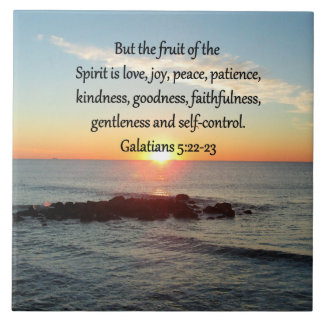 GALATIANS 5 FRUITS OF THE SPIRIT CERAMIC TILE