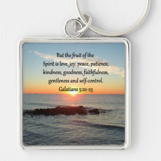 GALATIANS 5 FRUITS OF THE SPIRIT KEYCHAIN