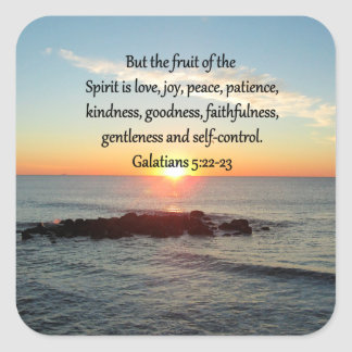GALATIANS 5 FRUITS OF THE SPIRIT SQUARE STICKER