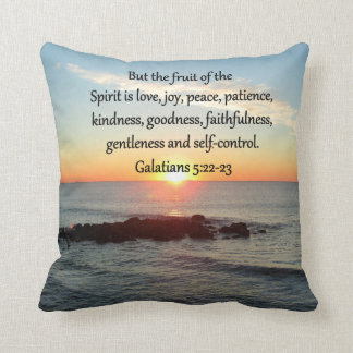 GALATIANS 5 FRUITS OF THE SPIRIT THROW PILLOW