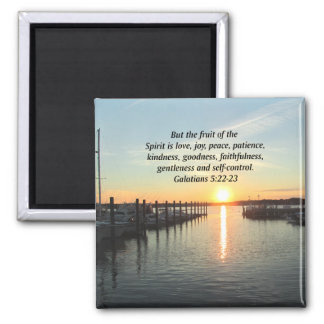 GALATIANS 5 SUNSET PHOTO MAGNET