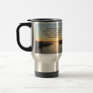 GALATIANS 5 SUNSET PHOTO TRAVEL MUG