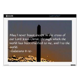 """Galatians 6:14 17"""" laptop skin"""