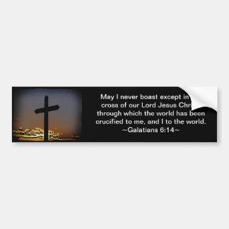 Galatians 6:14 bumper sticker
