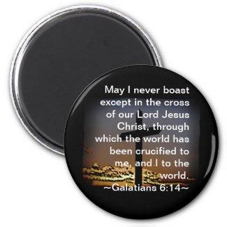 Galatians 6:14 fridge magnets