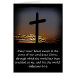 Galatians 6:14 greeting card