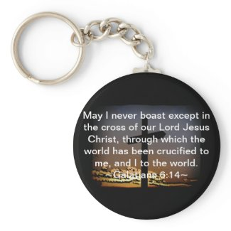 Galatians 6:14 key chains