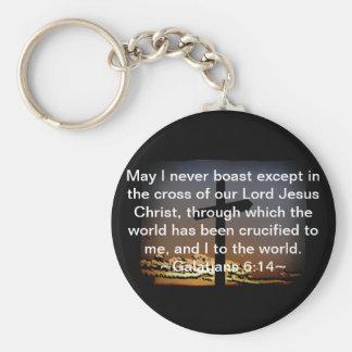 Galatians 6:14 keychain