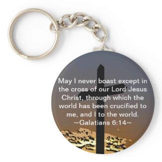 Galatians 6:14 keychains