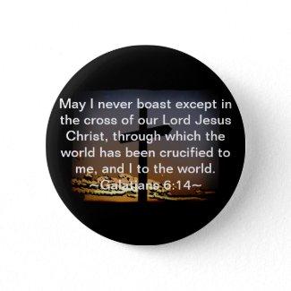 Galatians 6:14 pinback buttons