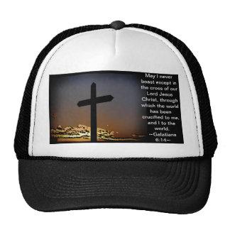 Galatians 6:14 trucker hat