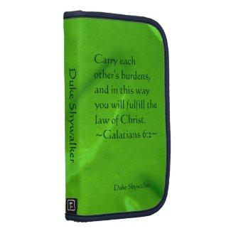 Galatians 6:2 Folio 2 rickshawfolio