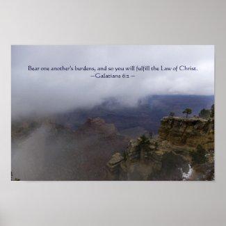 Galatians 6:2 Poster print