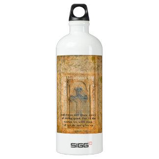 Galatians 6:9 Inspirational Bible verse KINDNESS Aluminum Water Bottle