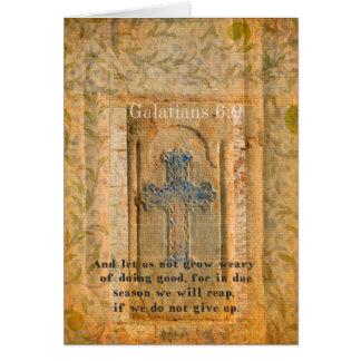 Galatians 6:9 Inspirational Bible verse KINDNESS Greeting Card