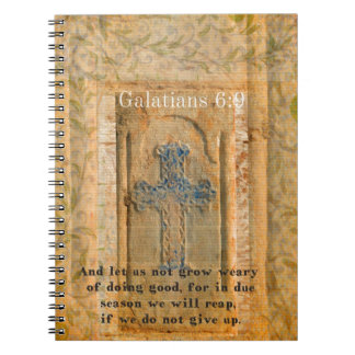 Galatians 6:9 Inspirational Bible verse KINDNESS Notebook