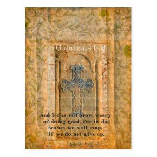 Galatians 6:9 Inspirational Bible verse KINDNESS Postcards