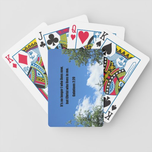 Galations 2:20 bicycle playing cards