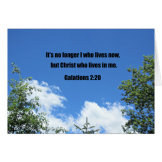 Galations 2:20 card
