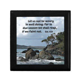 Galations 6:9 Let us not be weary in well doing Keepsake Box