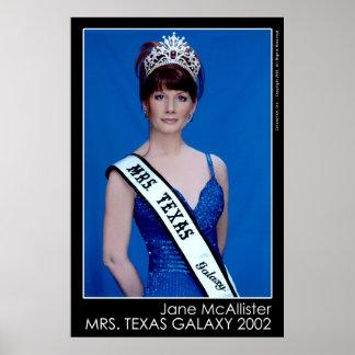Galaxia 2002 de señora Tejas Poster