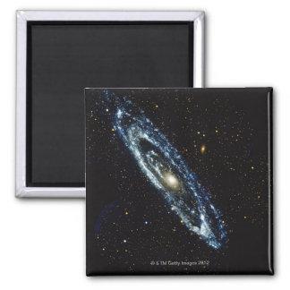 Galaxia 3 del Andromeda Imán Cuadrado