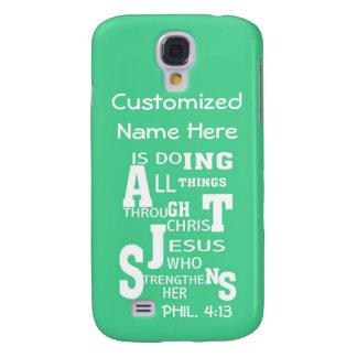 Galaxia 4 - Todas las cosas a través de Cristo - p Funda Para Galaxy S4
