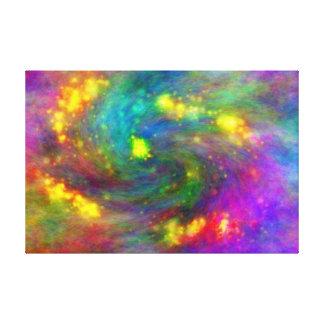 Galaxia abstracta lienzo envuelto para galerías
