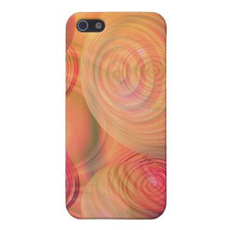 Galaxia ambarina anaranjada abstracta del fractal iPhone 5 fundas