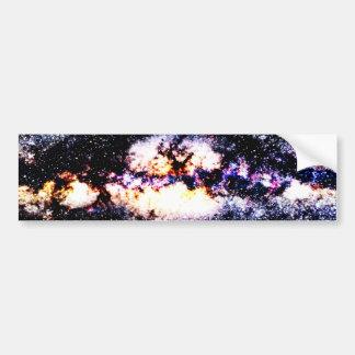 Galaxia ardiente etiqueta de parachoque