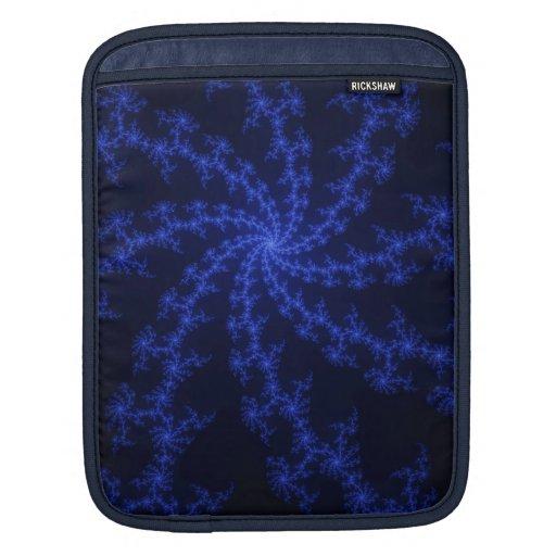 Galaxia azul - diseño del fractal fundas para iPads
