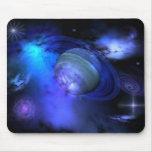 Galaxia azul tapetes de raton