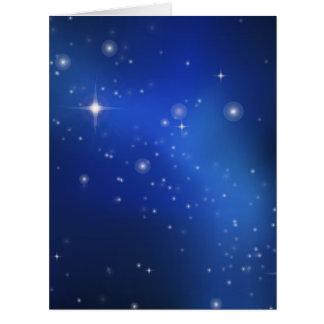Galaxia azul tarjeta de felicitación grande