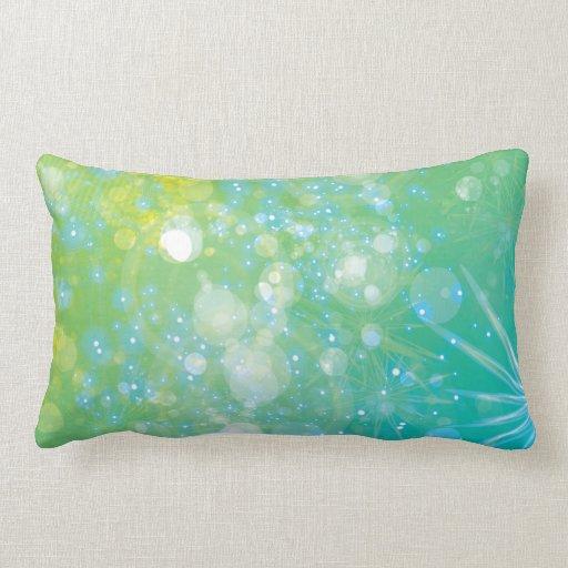 Galaxia Bokeh azulverde Almohadas