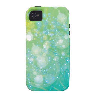 Galaxia Bokeh azulverde iPhone 4 Funda