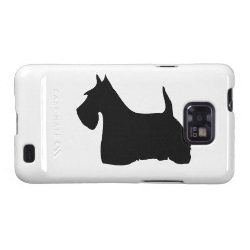 Galaxia cas de Samsung de la silueta del perro de Samsung Galaxy SII Carcasa