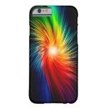 galaxia colorida del caso del iPhone 6 Funda De iPhone 6 Barely There