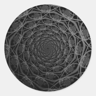 Galaxia de filamentos en pegatina blanco y negro