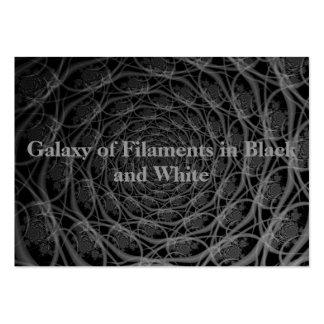 Galaxia de filamentos en tarjeta blanco y negro tarjetas de visita grandes