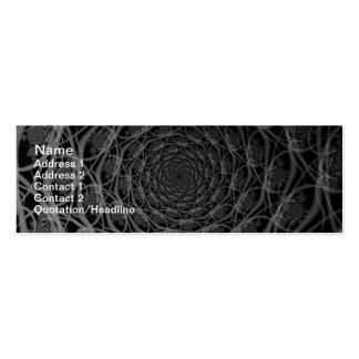 Galaxia de filamentos en tarjeta blanco y negro tarjetas de visita mini